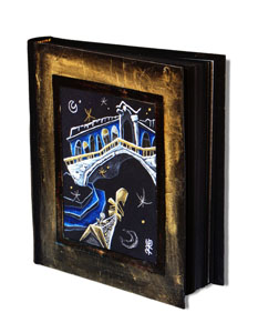Venice travel diary black paper book